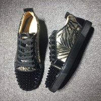 Cl Christian Louboutin Low Style #2010 Sneakers Fashion Shoes