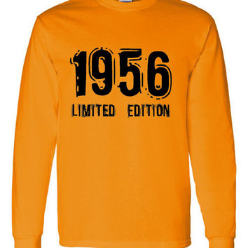 1956 Limited Edition Bday Long Sleeve Unisex T Shirt 57Th Bday Tee Great Birthday Gift Long Sleeve Happy 57th tee Shirt