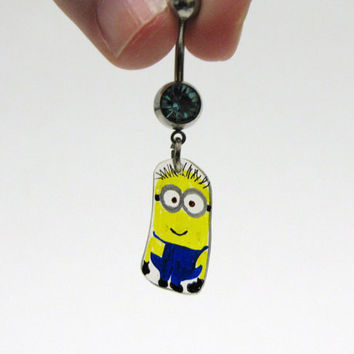 Eco-Friendly minion belly ring