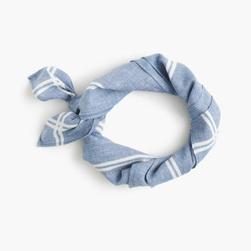 Chambray bandana with striped border