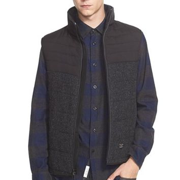 Men's rag & bone 'Stride' Mixed Media Quilted Vest,