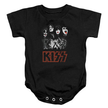 KISS Boys' Rock The House Bodysuit Black Rockabilia