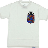 Grizzly Tropical High Pocket Tee Xxl white