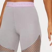 PrettyLittleThing Grey Fishnet Panel Cycling Shorts