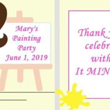 20 Painting Party Birthday Party Mint Favors