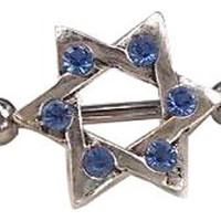Dan Jewelers Blue Crystal Jewish Star Of David Body Jewelry Piercing