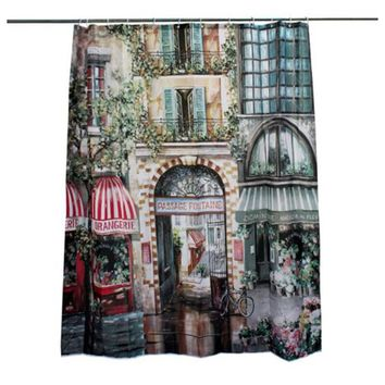 180x200cm Vintage European French style Bathroom Shower Curtain + Hooks