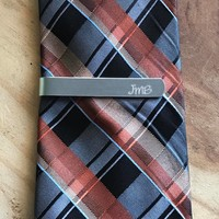 Custom tie clip tie bar personalized personalized tie clip groomsmen gift father of the bride gift tie clip personalize tie clip wedding
