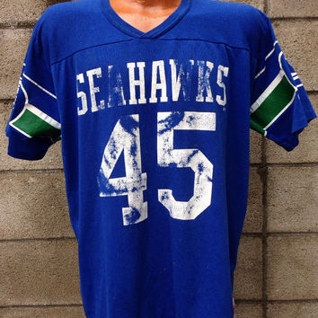 Seattle Seahawks Shirt Vintage Jersey Kenny Easley 1980s NFL Tee XL