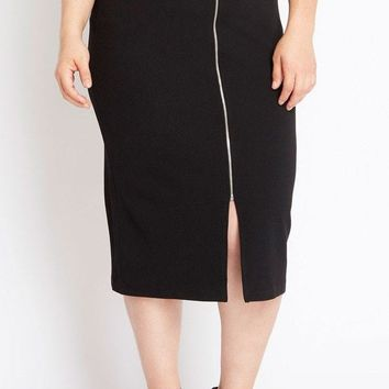 Pencil Me In Midi Skirt Plus Size