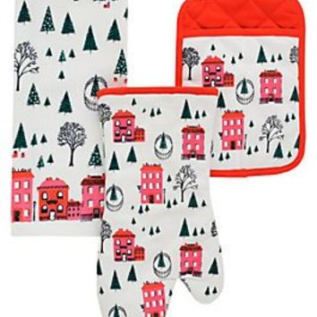 holiday village 3 piece set