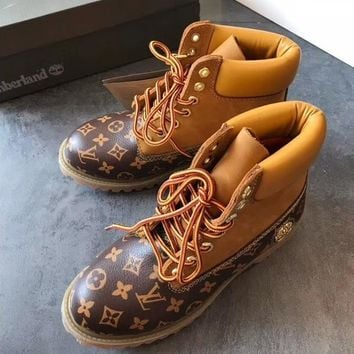 Timberland x Louis Vuitton LV Boos With Upper Leather