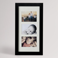 Black Wall Mount Photo Display/Jewelry Armoire - World Market