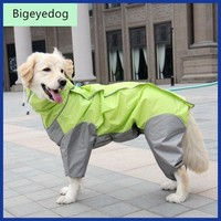 Big Dog Raincoat Large Dog Clothes Waterproof Clothing Rainwear Jumpsuit Golden Retriever Labrador Husky Big Pet Costume