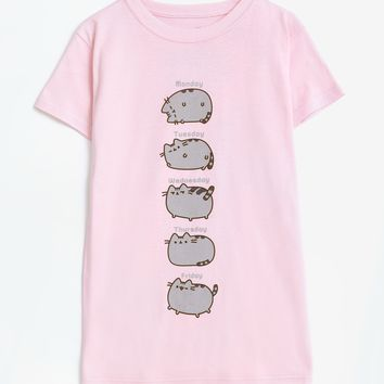 Pusheen Days of the Week ladies junior T-shirt