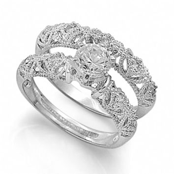Inexpensive wedding rings: Victorian style wedding engagement rings