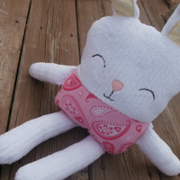Stuffed Bunny, Bunny Plush, Rabbit Toy, Girl Toy, Baby Toy
