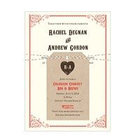 Western Mountain Barn Wedding Invitation Collection