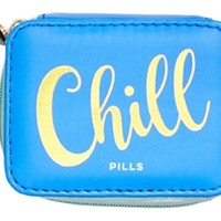 Vitamin Pill Box with Pill Charm in 3 Colors: Blue, Teal, Pink