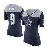 Tony Romo Dallas Cowboys Nike Women's Starters Only Name and Number T-Shirt – Navy Blue