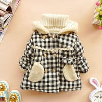 18m,24m,2y,3y,4y baby winter coat toddler clothes baby girl clothes winter coat - plaid coat