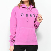Obey Novel 2 Dusty Violet Hoodie | Zumiez
