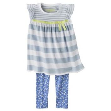 Genuine Kids from OshKosh™ Infant Toddler Girls' Striped Tunic and Legging Set - Blue