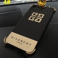 GIVENCHY Plating black soft edge with plating phone case shell  for iphone 6/6s,iphone 6p/6splus,iphone 7/8,iphone 7p/8plus