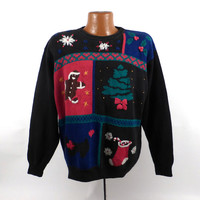 Ugly Christmas Sweater Vintage Holiday Tacky Women's size 2X Plus size