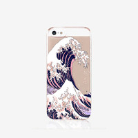 The Great Wave off Kanagawa iPhone Case Clear iPhone 6 Case Rubber iPhone Case iPhone 6 Case Clear iPhone 5 Case Clear Samsung S6 Case