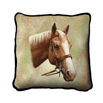 Pure Country Weavers Decorative Palomino Horse Pillow