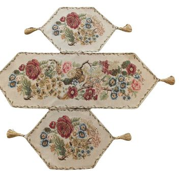 Tache 3 Piece Country Rustic Morning Meadow Table Runner Set (3098-3PCST)