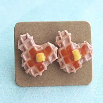 Mickey Waffle Earrings