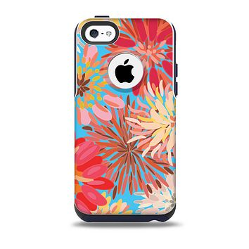 The Brightly Colored Watercolor Flowers Skin for the iPhone 5c OtterBox Commuter Case