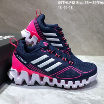 AUGUAU A485 Adidas Terrex High Frequency Breathable TPU Vamp Running Shoes Purple Pink