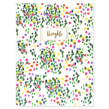 Tulip Fields Thoughts Blank Notebook
