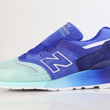BC QIYIF New Balance Made in USA 997 Home Plate Pack Blue Turquoise M997NSB