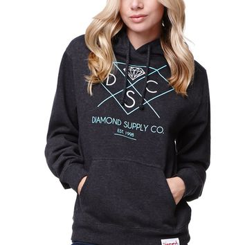 Diamond Supply Co Pullover Hoodie - Womens Hoodie - Black