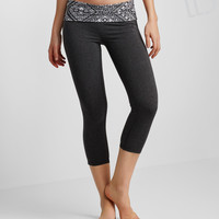 LLD Tribal Fold-Over Crop Leggings
