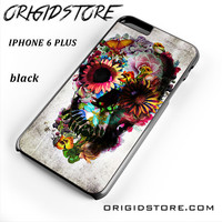 Floral Sugar Skull For Iphone 6S Plus Case UY