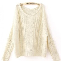 Vintage Twist  Beige Sweater$40.00