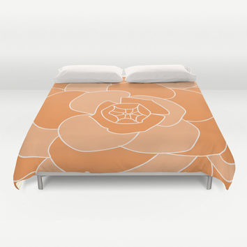 Personalized Floral Duvet Cover Custom Color - King size Queen size Double Full - Bedding Duvet Flower Bedroom Nature Pattern Accent Decor