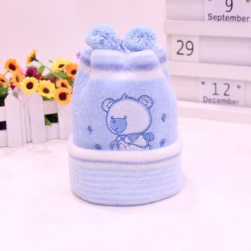 Newborn Hat Kids Winter Hats Baby Cap Super-Soft Cashmere Bonnet Headgear For Boys Girls Hot Sale Infant Beanie Free Shipping