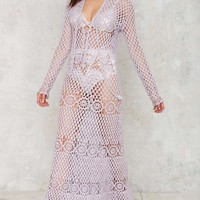 Vintage Woman of Heart and Mind Crochet Dress