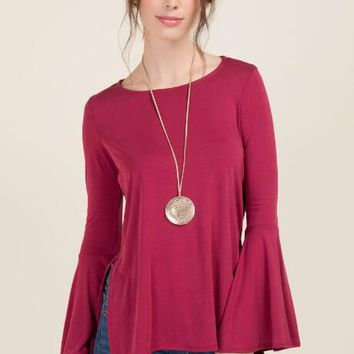 Edyn Bell Sleeve Cupro Top