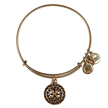 Alex and Ani Lucky Golf Ball Charm Bangle - Russian Gold
