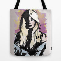 Blonde Tote Bag by Allison Reich