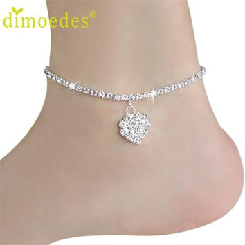 Women's Anklets Deal Heart Crystal 1PC For Ankle