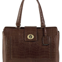 Handbags | 25-40% Off Select Handbags | Lafayette Croc-Embossed Leather Tote Bag | Lord and Taylor