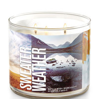 Sweater Weather 3-Wick Candle | Bath And Body Works